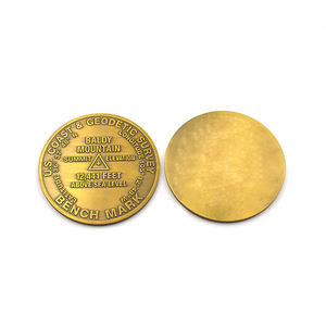 Military blank brass challenge antique gold metal coin