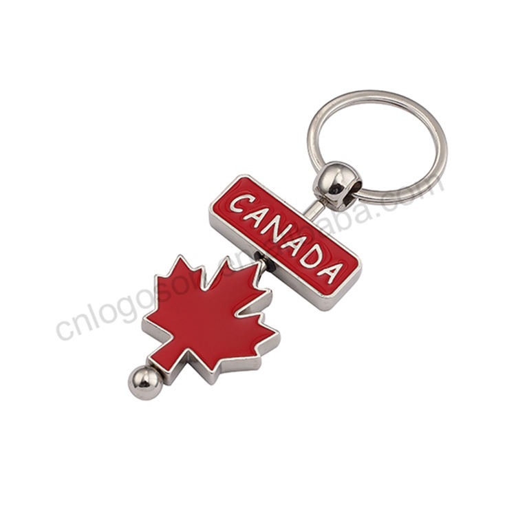 Leather Keyring Engraved Vancouver City Canada Flag