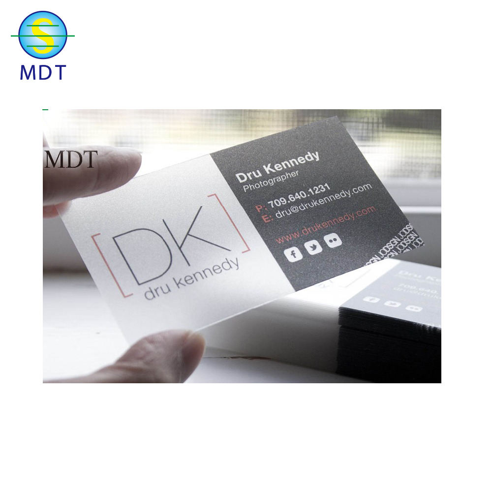 clear business card inkjet pvc card