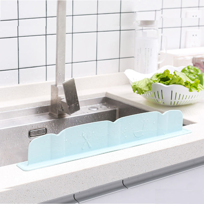 Kitchen Wash Basin Sucker Sink Silicone Water Splash Guards Baffle Household Tools