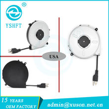Retractable reels for cable management extension cable reels/power cord reels