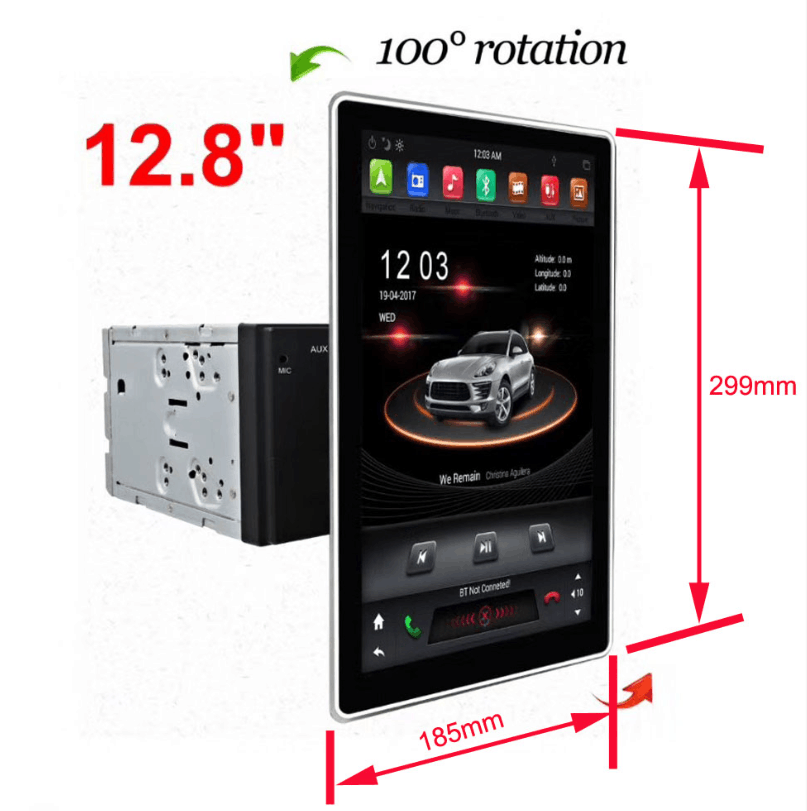 Klyde Android 8.1 Car Multimedia System Radio Tesla 12.8 pollici IPS Schermo