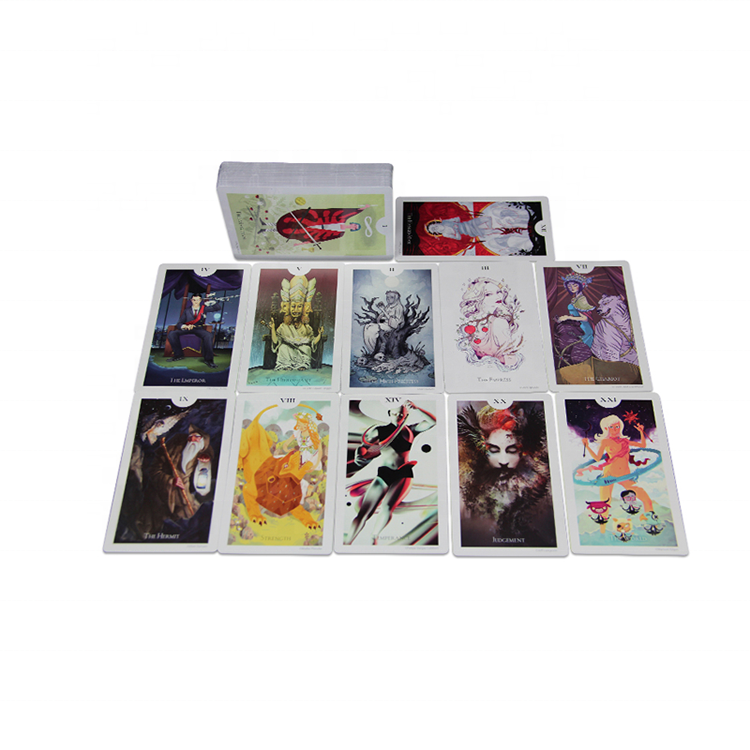 High Quality Custom Printing 350gsm Art Paper Golden Edges Tarot Cards With UV coating