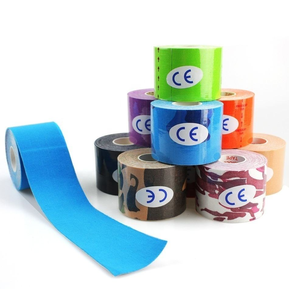 Free Sample Precut Athletic 5cmX5m Kinesiology Tape For Muscle thearpy sports tape kinesiology