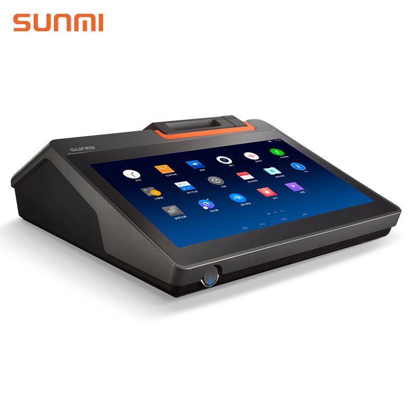 Touch Screen Systeem T2mini Systemen Met Ingebouwde 58mm Thermische Printer 7 inch Pos Android Terminal Tablet Epos Tot