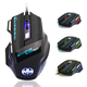In stock 7 Button LED optical USB Wired gaming computer mouse For PC Gamer
