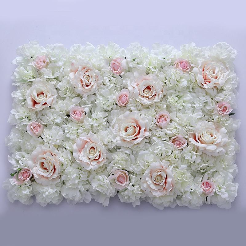 40*60cm New brand wedding party backdrop Ivory hydrangea and rose flower artificial flower wall