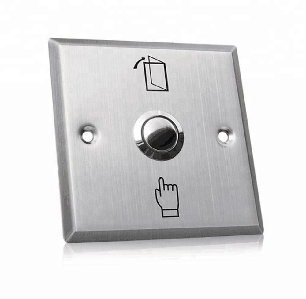 Stainless Steel Square push door exit with LED Light used for Access Control System PY-DB14