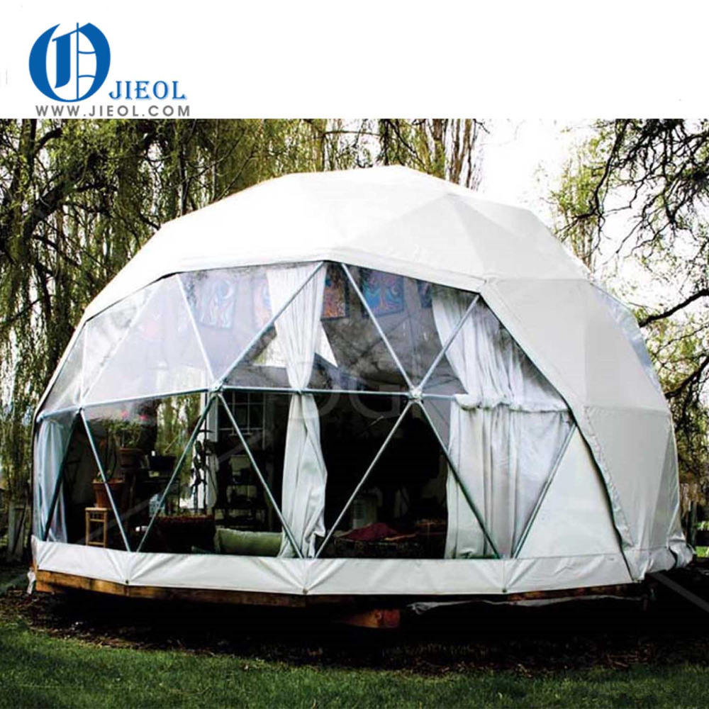 Geodesic tent transparent big party events dome tent with clear pvc fabric for sale