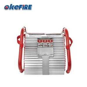 Okefire Aluminum Portable Three-Story Balcony Fire Emergency Escape Climbing Rescue Safety Ladder