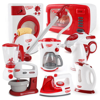 Children's simulation kitchen play house toys Puzzle multi-function cooking small appliances cutlery set kitchenware