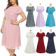 Boutique Fashion Big Size Clothing Plus Size Chiffon Summer Dress For Fat Woman Large Size Ladies Dress