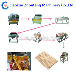 BBQ Tools Bamboo Craft Skewers Sticks For Snack Food machine production line