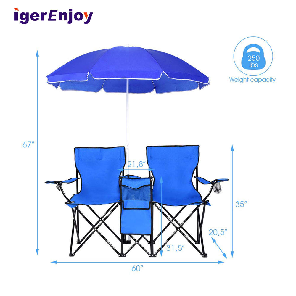 Promotion Miniature Metal Portable Folding Beach Chair With Umbrella