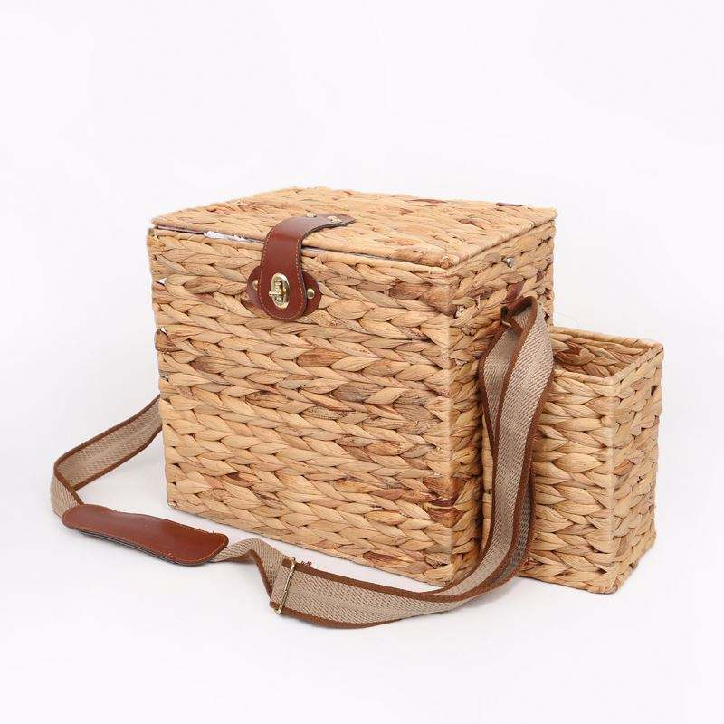 Cheap Handmade Wicker Picnic Basket For Outdoor Camping Storage Basket