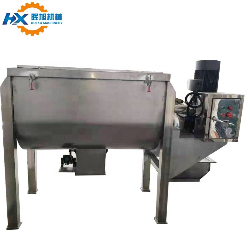 HX Powder Horizontal Ribbon Blender cosmetic powder fertilizer powder spices tea mixing machine