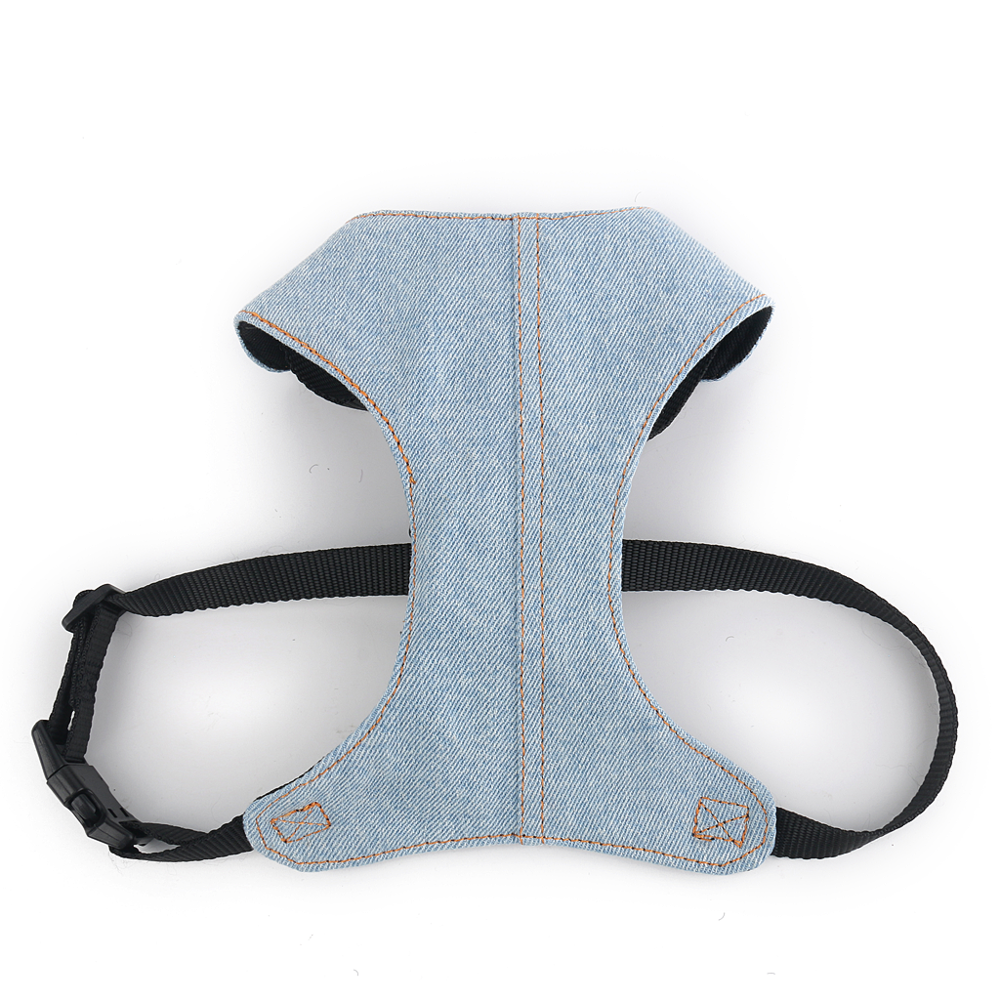 High Quality Denim Small Dog Harness With Soft Padding