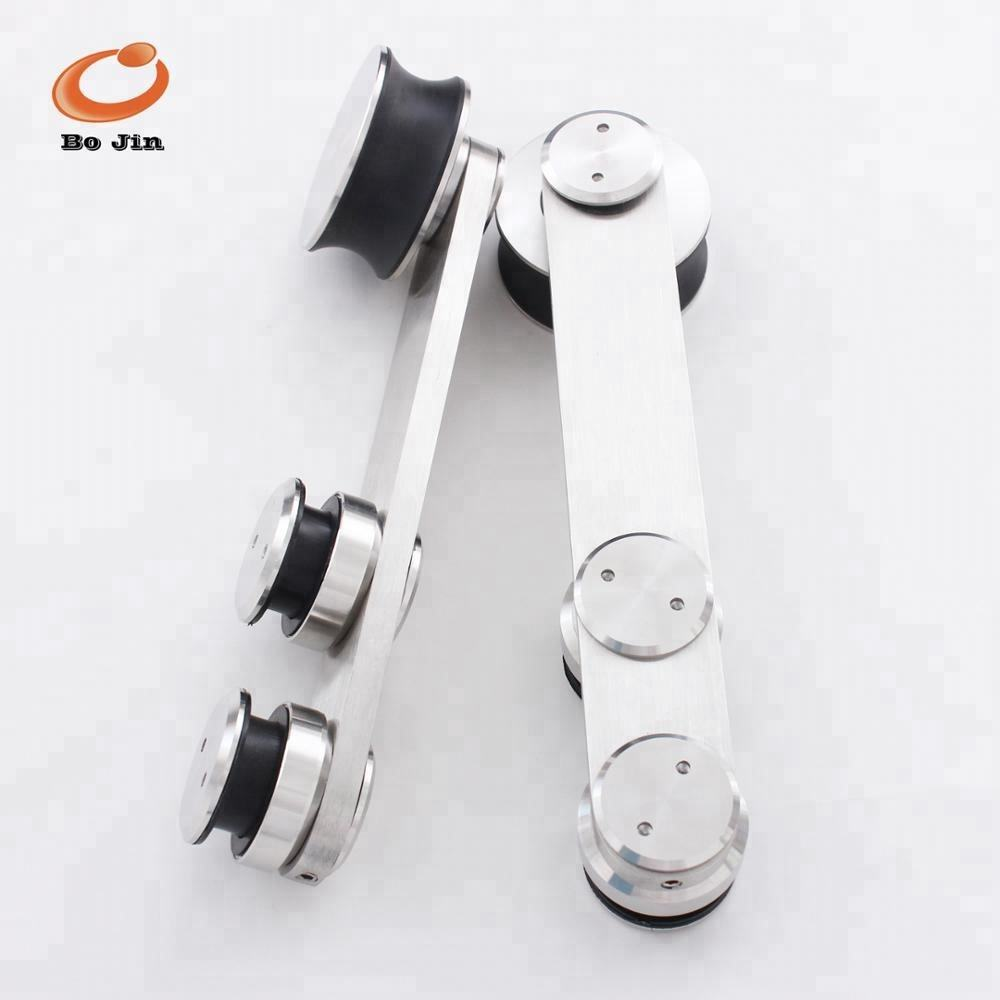 Classic Stainless Steel Wood & Glass Sliding Barn Door Fittings