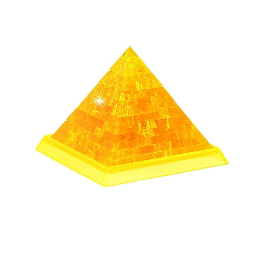 3D Crystal Puzzle, [Non-Toxic] Pretty Pyramid Decoration Model DIY Gadget Blocks Building Toy Giftz