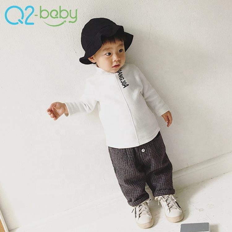 New autumn infant turtleneck simple casual cotton long sleeve baby t-shirt 2280