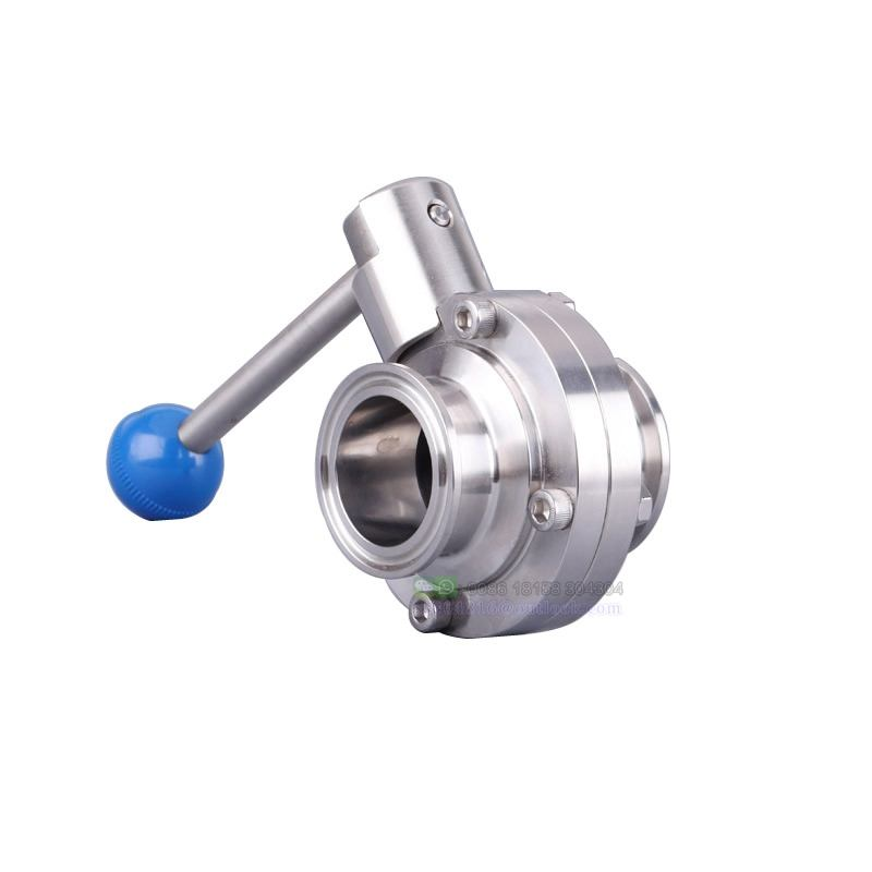 Direct Factory Good Quality Stainless Steel Sanitary Butterfly Valve Quick Install Food Grade Clamp Ferrule Butterfly Valve