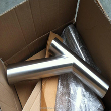 3inch Sch400 SUS304 SUS316 material butt weld stainless steel 45 degree Y branch pipe fitting lateral tee