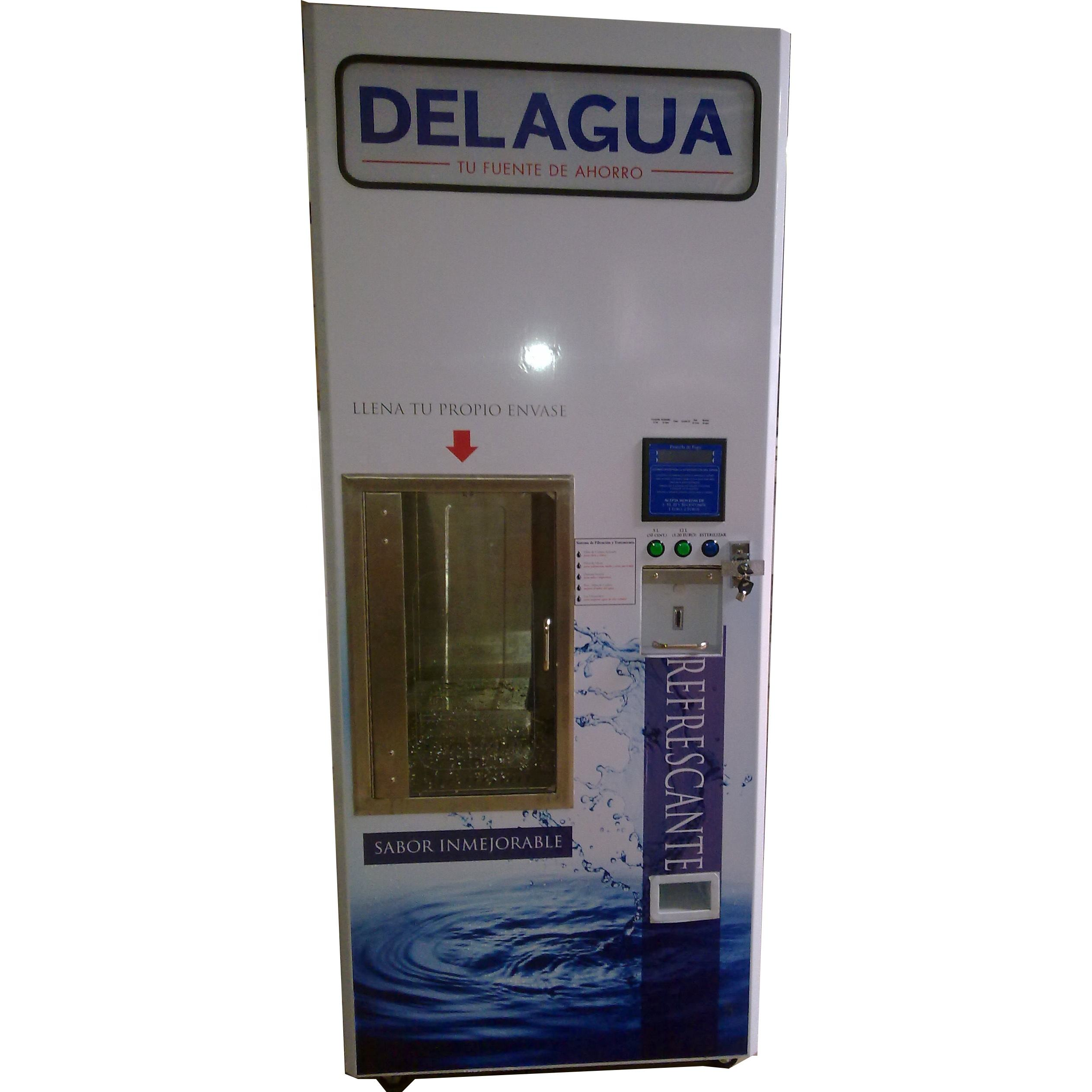 Automatic RO water vending machine with washing bottle function