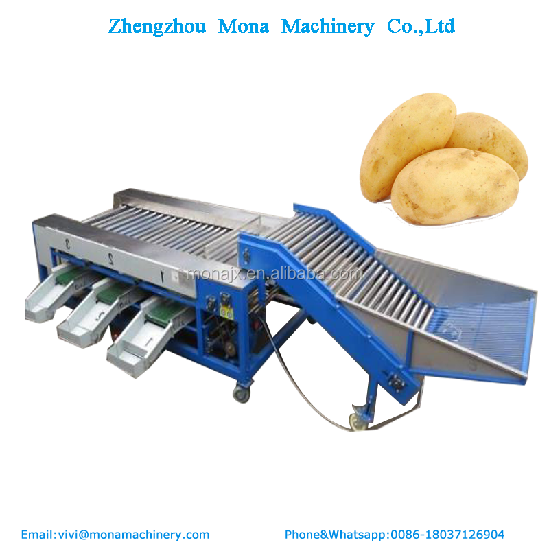 Stainless steel Potato tomato sorter/ strawberry sorting / grading machine