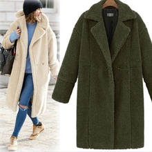 China manufacturer ladies fashion sheep fur warm thicken coat wool jacket long cardigan women winter clothes 2018