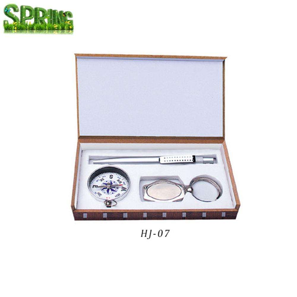 Business gift 3 in 1 Gift set keychain pen and knife with compass in gift box