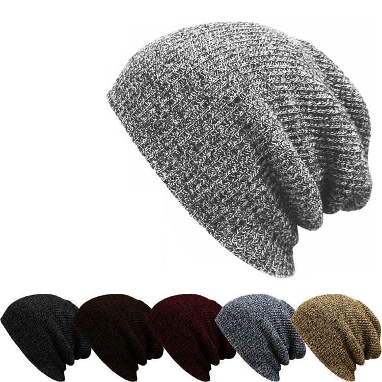 High Quality Outdoor Winter Warm Wool Knitted Caps Custom Blank Logo Mens Beanie