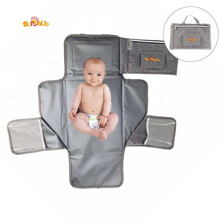 New design diaper bag waterproof baby portable changing pad