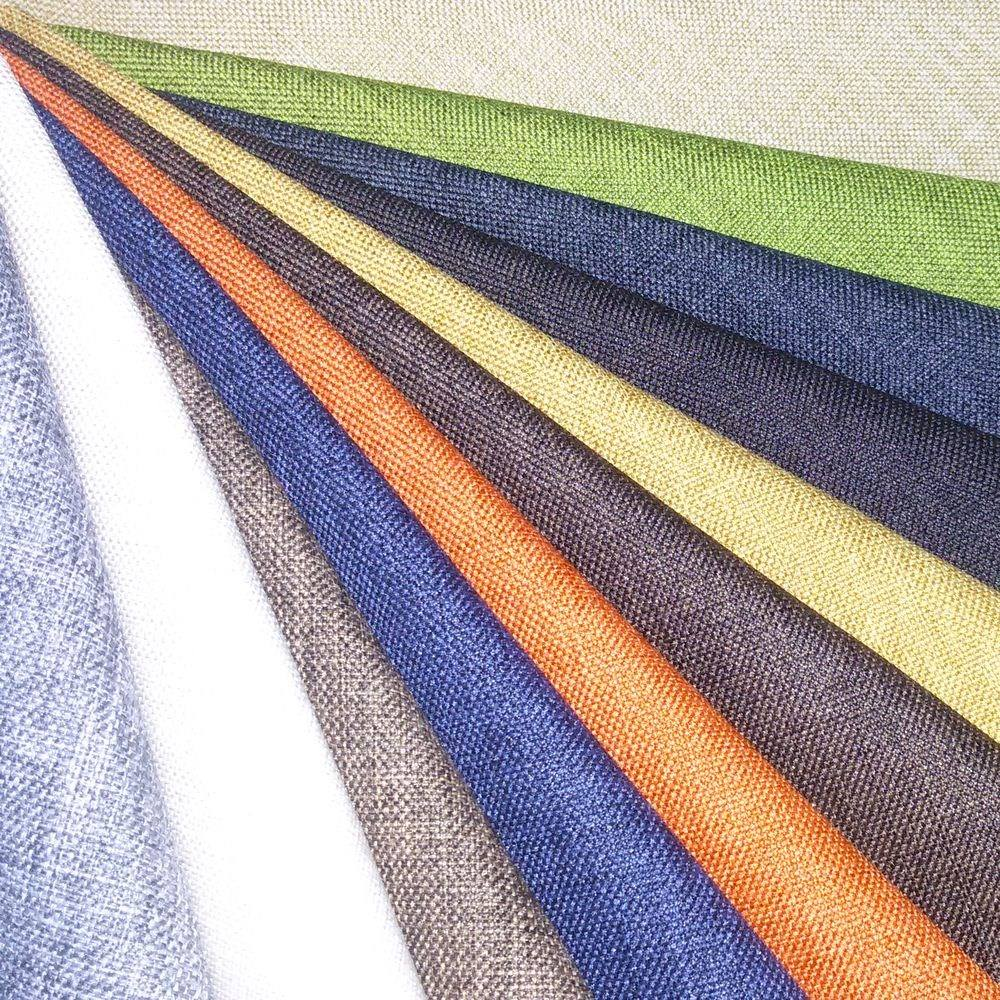 The wholesale polyester jacquard fabric /polyester linen fabric /polyester linen look fabric