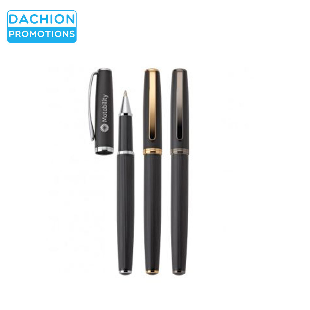 Logo Printed Brass Pen with Pull-off Cap