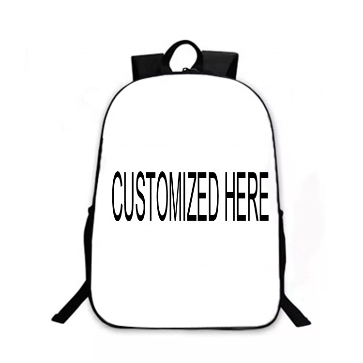 Children School Bags Printed Sublimation Blank Personalized Backpack Custom