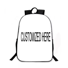 Custom Your Own Image Teens Girls Boys School Backpacks Printed Custom Sublimation Back Pack Personalized Backpack
