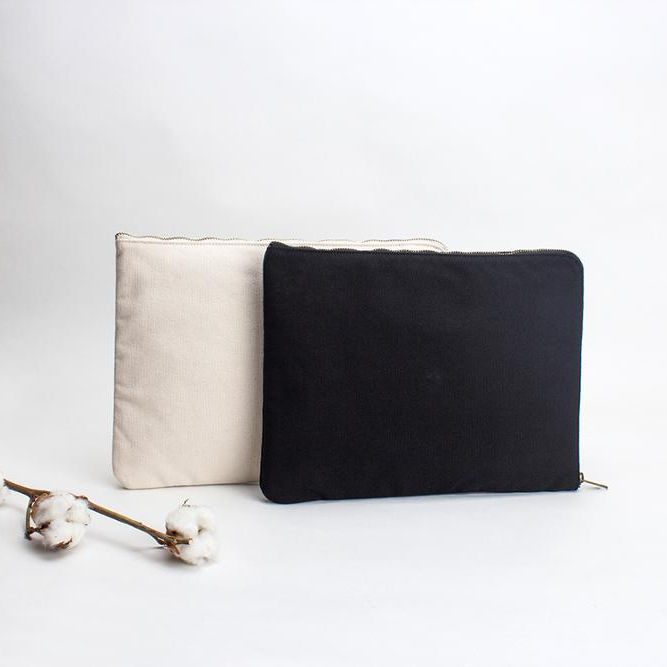 Cotton canvas storage bag clutch A4 document bag envelope bag made in China factory RTS Ready to Ship