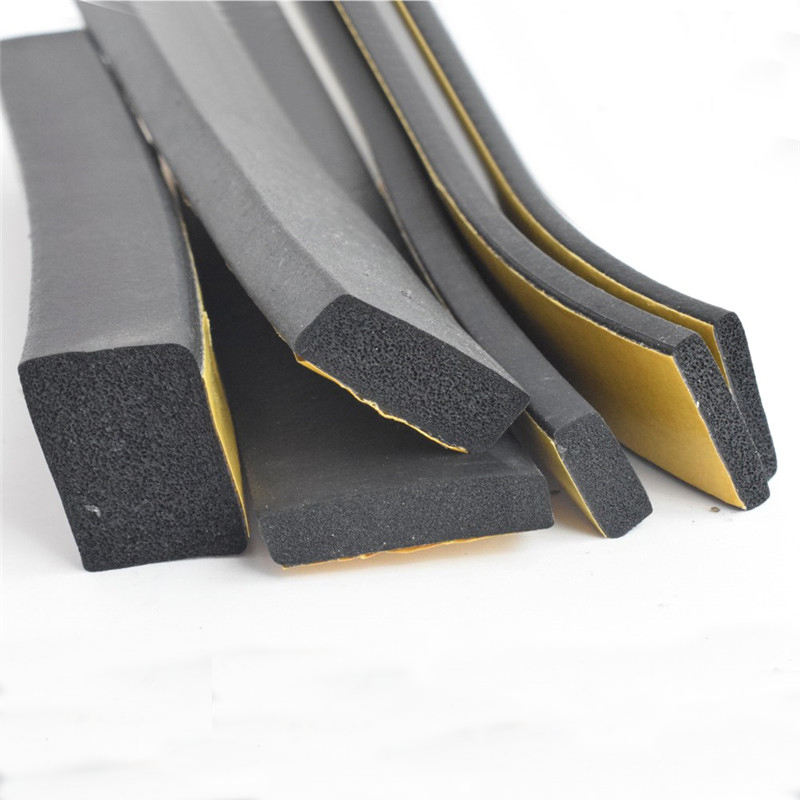 Square Self-adhesive EPDM Rubber Foaming Sealing Strip