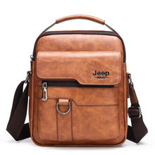 Waterproof PU leather Fashion Business Casual shoulder Sling Bag Men Satchel Messenger Crossbody Bag