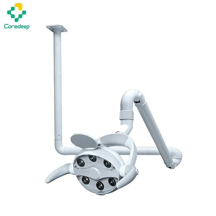 Dental unit chair 6 bulbs led operating light with ceiling mounted arm
