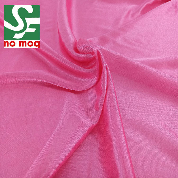 China Factory 100% Poly Tricot Lining Soft Fabric for Women Dresses