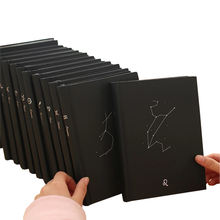 Creative note books hardcover astrology notepad black cover constellation notebook planner daily gift journal