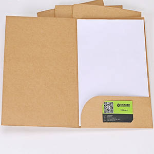 A4 paper file folder with pocket and business slots custom logo