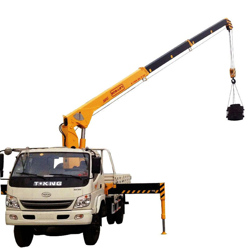 5ton telescopic boom truck mounted crane used on forklift for sale in china