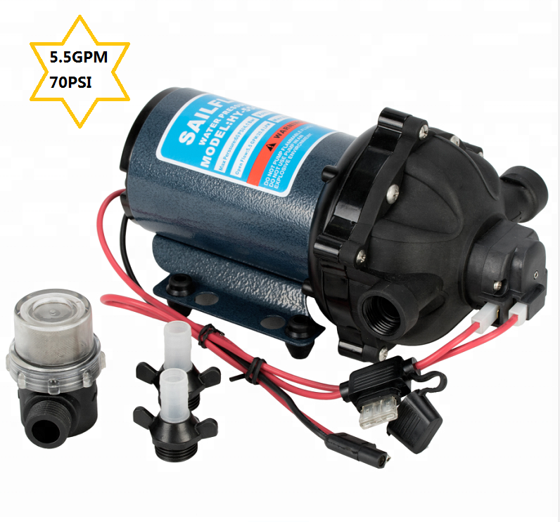 Sailflo 12 V dc 5.5GPM 70psi membraanwaterpomp voor RV/yacht