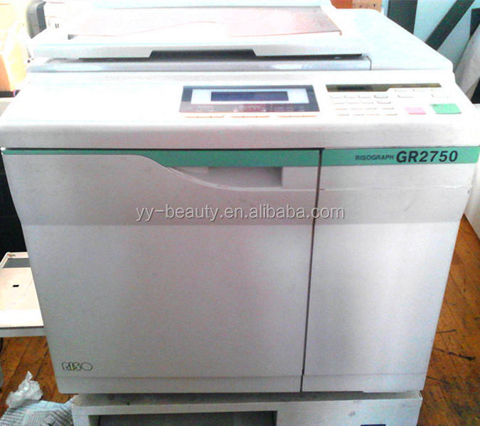 RISOs GR3750 GR2750/2710/2000/1710 Digital Duplicator machine,RISOGRAPHs used cheap copyprinter machine