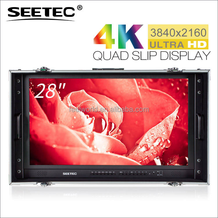 SEETEC 28 inch ultra hd 3840X 2160 4k monitor with 4 HDMI inputs SDI input output
