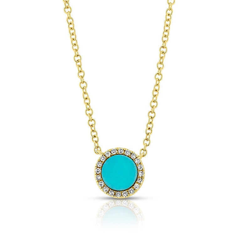 Grosir India Gold Perhiasan Turquoise 925 Sterling Silver Kalung