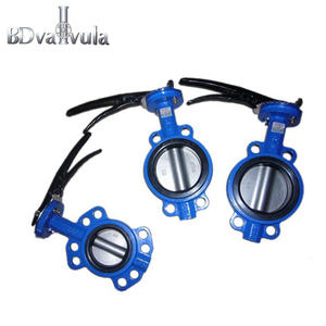 Cast iron/ductile iron wafer PN16 butterfly valve with level