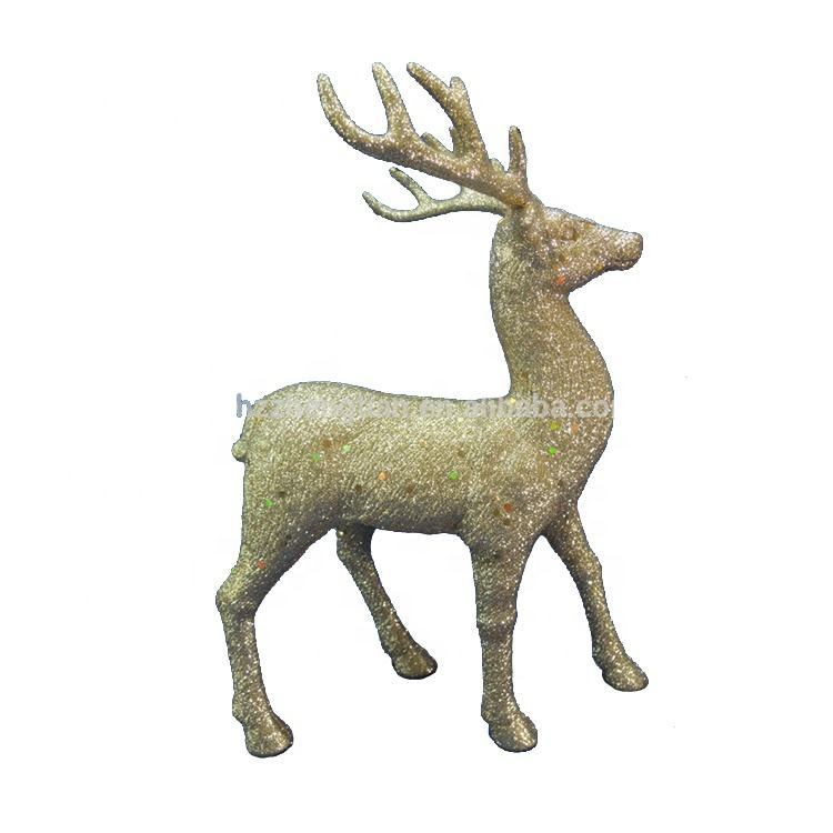 Outdoor giant plastic glitter reindeer christmas decorations outdoor